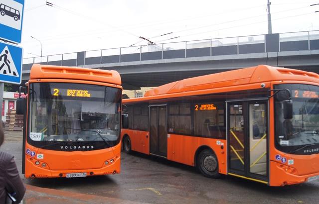 Муниципальный автобусный парк Волгограда пополнили новые «Волгабасы»