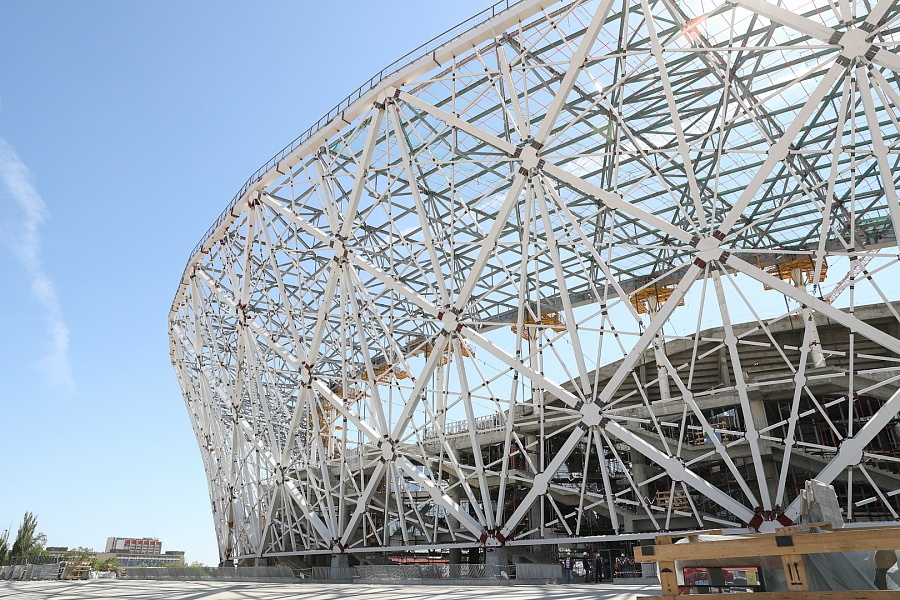 На стадионе «Волгоград Арена» газон начнут сеять в первой декаде сентября