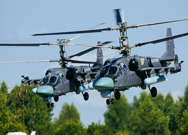Шесть вертолетов Ка-52