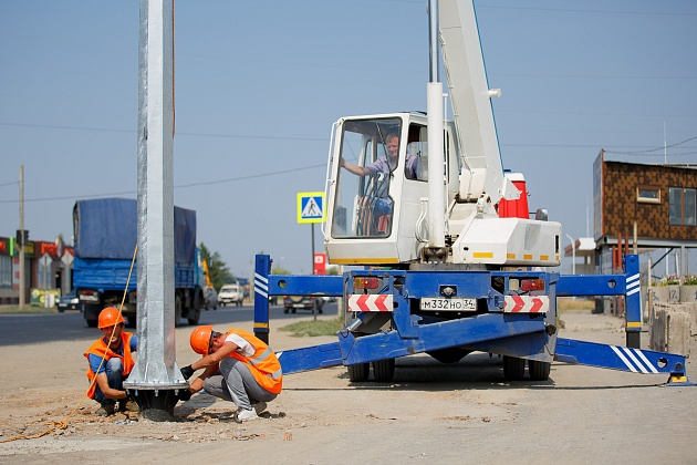 7 участков наружного освещения протяженностью 30 километров будут запущены на волгоградских дорогах