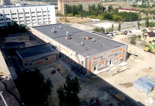 Строительство приемно-диагностического корпуса 25-й городской больницы в Волгограде идет активными темпами