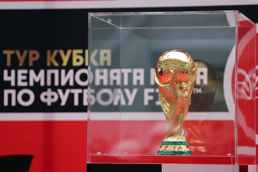 Волгоград приветствует Кубок Чемпионата мира по футболу FIFA